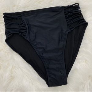 4/$20 Xhilaration Black High Waist Bikini Bottom